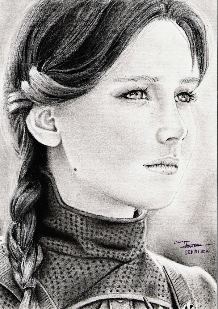 Jennifer Lawrence by FlosDrawing